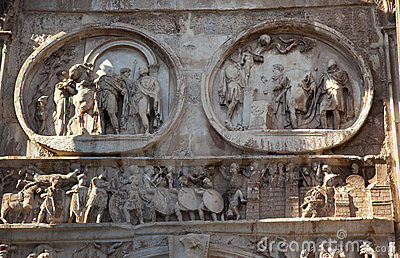 Details Arch of Constantine Rome Italy