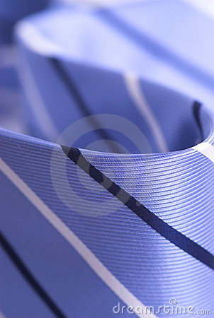 Details of blue necktie