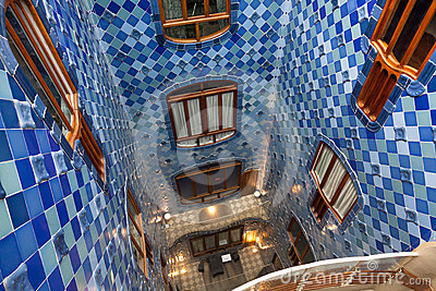 Details from Casa Batllo. Barcelona - Spain Editorial Image