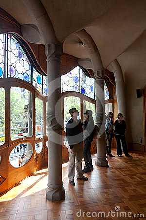 Details from Casa Batllo. Barcelona - Spain Editorial Photography