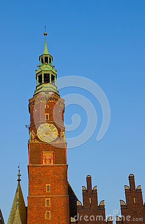 Details of city hall, Wroclaw, Poland