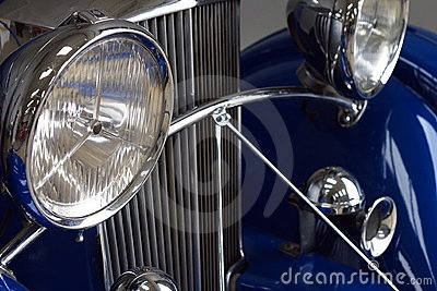Details of classic car