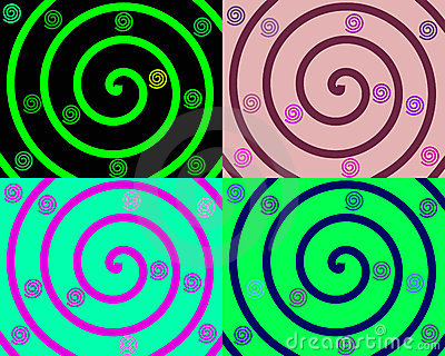 Details of colored spirals