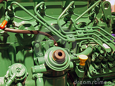 Details of a diesel engine motor
