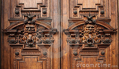 Details of the door of an ancient rich palace