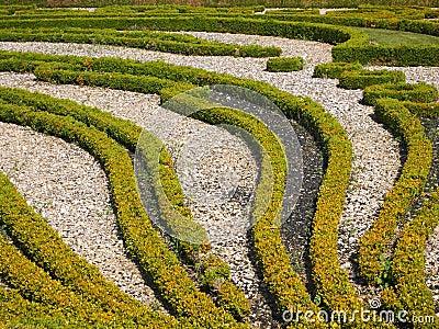 Details eines netten französischen Gartens