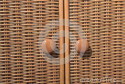 Details of fabric cabinet
