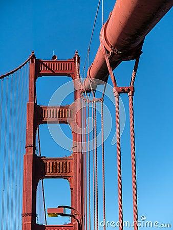 Free Details, Golden Gate Bridge Royalty Free Stock Photography - 38824547