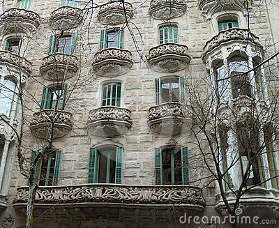 Details of the house of Gaudi