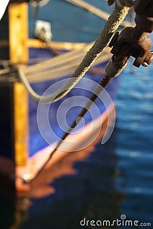 Details of moored boat