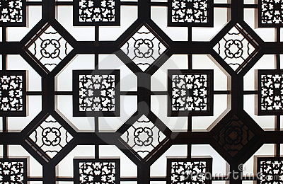 Details of old ornamental Ceiling in Beijing, Chin