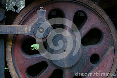 Details of an old Steam Train