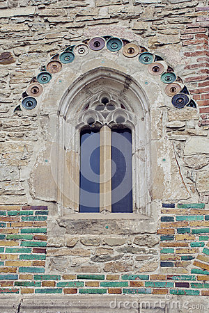 Free Details On The Wall And Window Of Neamt Monastery In Moldavia, R Royalty Free Stock Photos - 46628578
