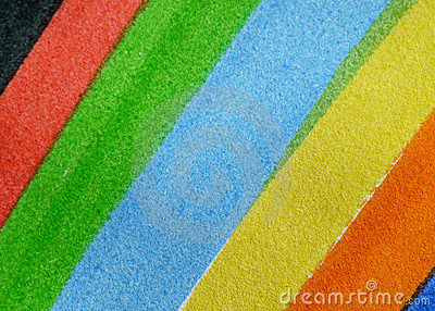 Details of a painted rainbow