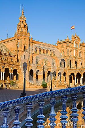 Details of Plaza de Espa?a, Seville, Spain