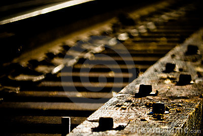 Details of railroad tracks