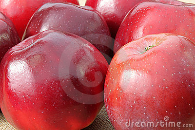 Details of red apples