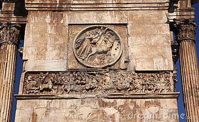 Details Roman Soldiers Constantine Arch Rome Italy