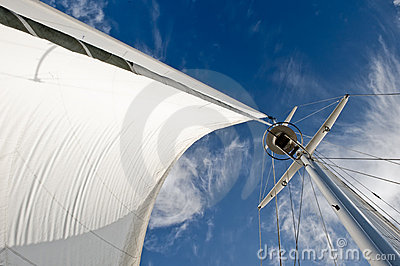 Details of sail and mast