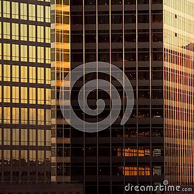 Details of skyscraper facade