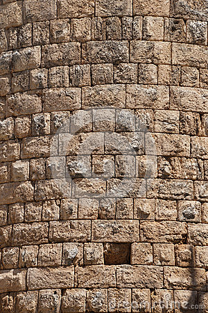 Details, stone of the Hellenistic gate  in the ancient Greek cit