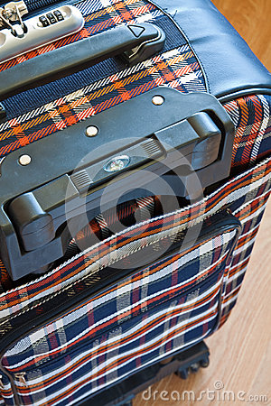 Details of travel suitcase