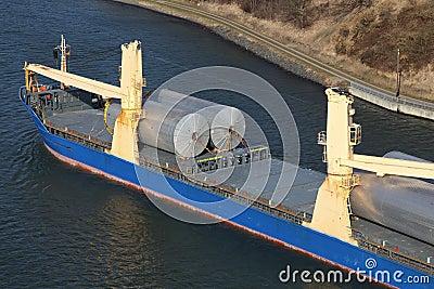 Details van een vrachtschip