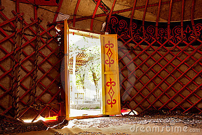 Details of Yurt interior