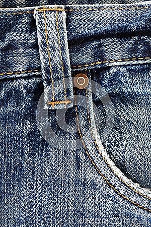 Detalhe das calças de brim