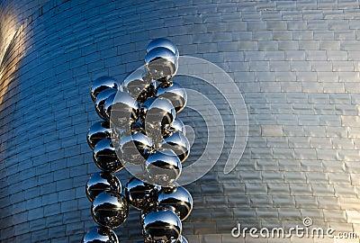 Detalhe de Guggenheim Imagem Editorial