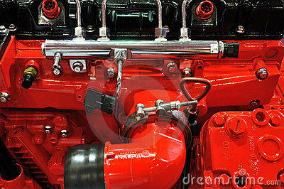 Detalhe de motor de diesel