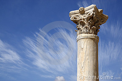 Detalhe de uma coluna romana