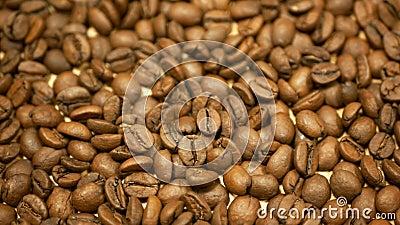 Detalhe do café torrado Brasil cultivado Variável Coffea arabica bio orgânico café espresso Preparação italiana filme
