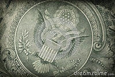 Detalhe do dólar americano de Grunge