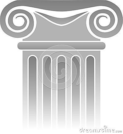 Detalhe grego da coluna/eps
