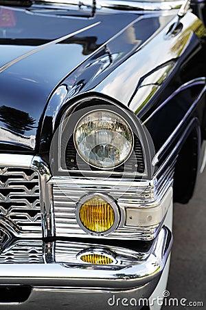Detalhe velho do carro