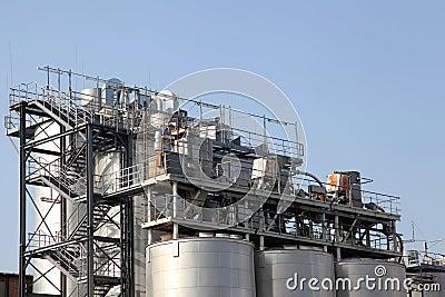 Detalhes de uma planta industrial