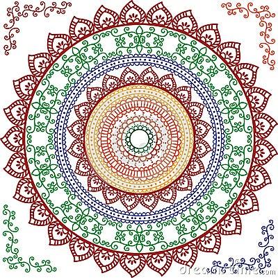 Detaljerad mandala för design