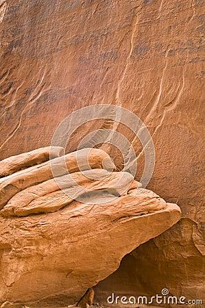 Detalle de la piedra arenisca
