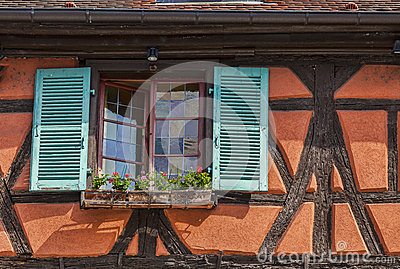 Detalle de una casa Alsatian