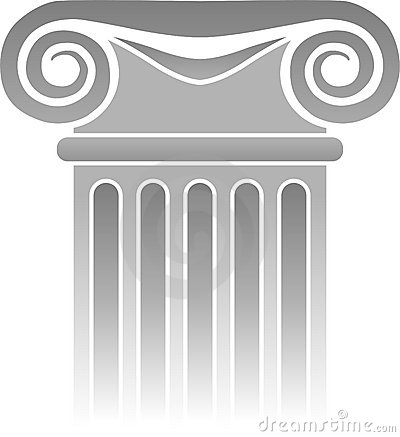 Detalle griego/EPS de la columna