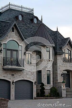 Detalles de lujo de la casa