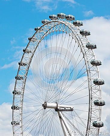 Detalles del ojo de Londres Imagen editorial