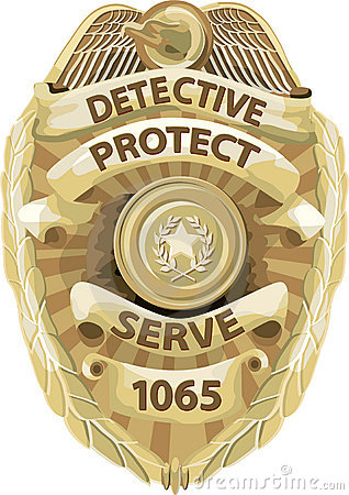 Detective Badge with clipping path