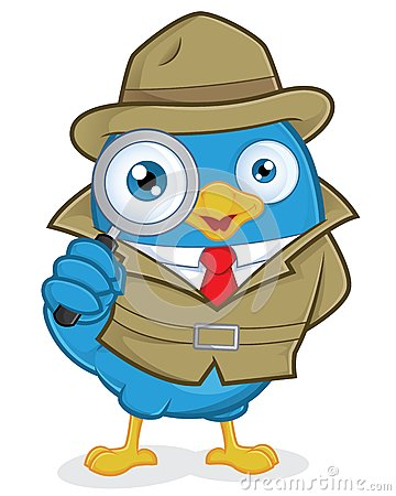 Free Detective Blue Bird Stock Photo - 36559770