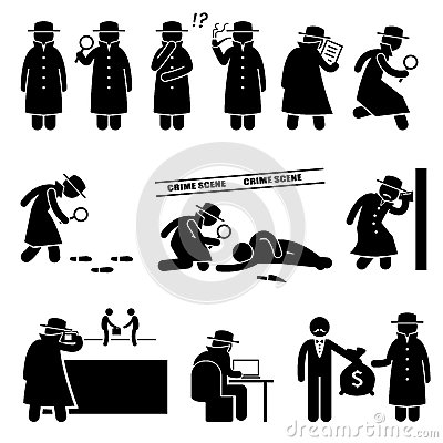 Free Detective Spy Private Investigator Cliparts Royalty Free Stock Image - 58636226