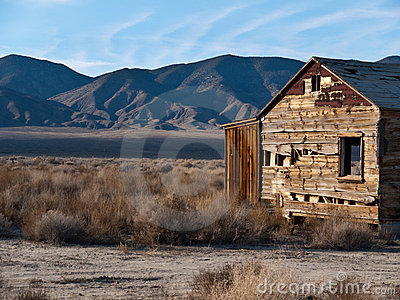 Deteriorating homestead in the Northern Nevada des