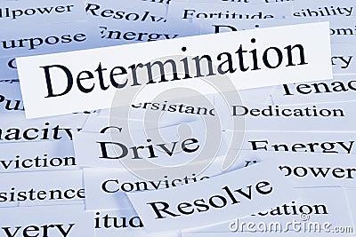 Determination Concept