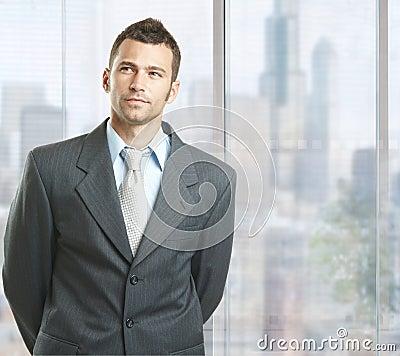 Determined businessman