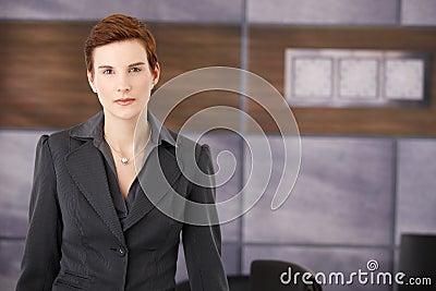 Determined smart businesswoman